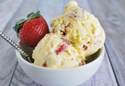 Strawberry Sour Cream Ice Cream Recipe — Dishmaps