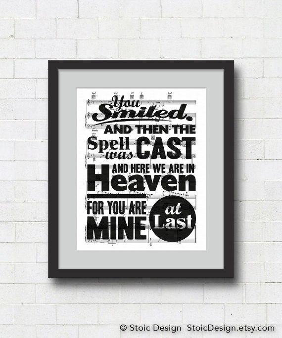 At Last Typographical Art Print