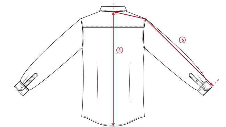 How we measure 4. SHIRT LENGTH Measure from center