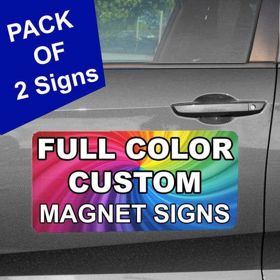 Personalized Magnetic Car Signs Custom Magnet Sign For Vehicle