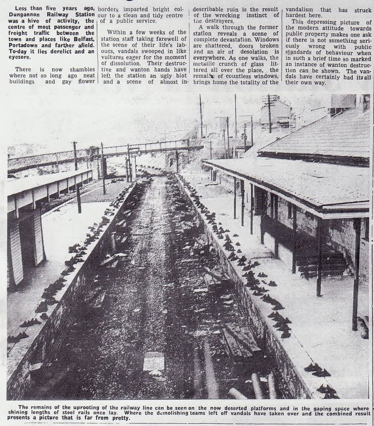 Dungannon Railway Station after it closed - Dungannon