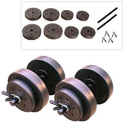 40 lbs Vinyl Dumbbells Hand Weights Set Begginers Fitness Home WorkoutExercise