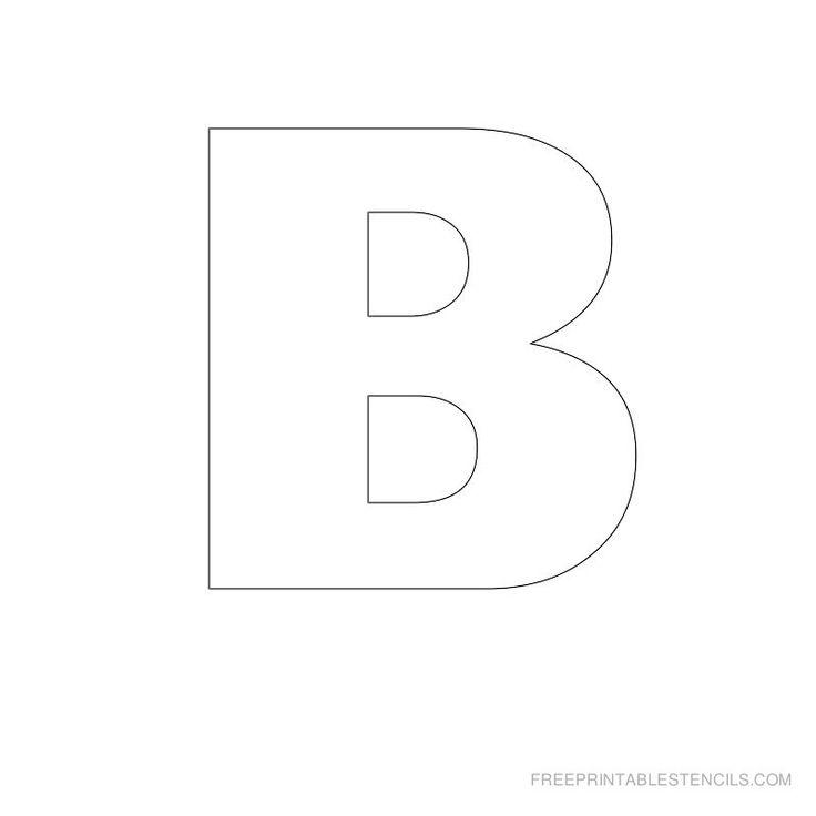Printable Big Letter Stencil B