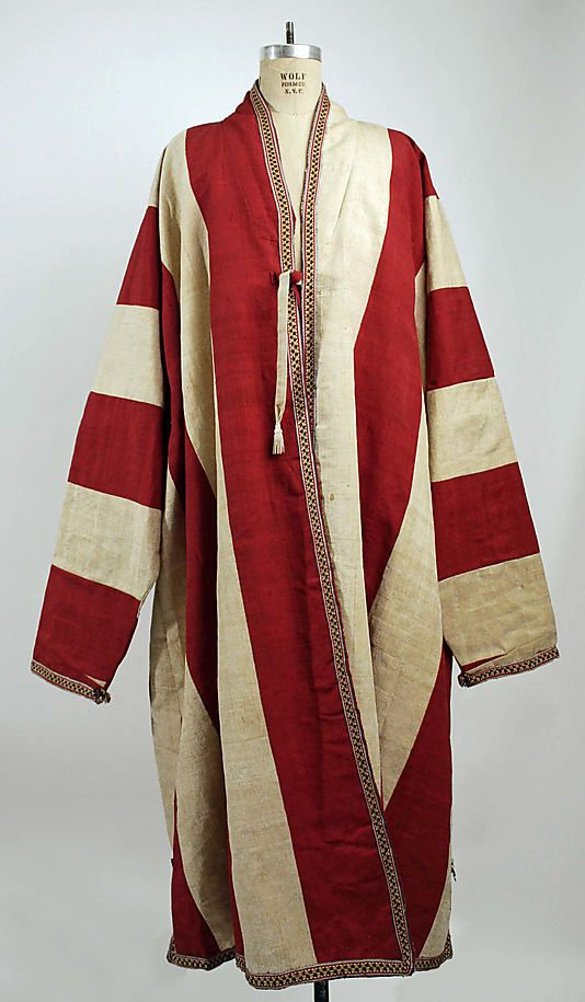 19th C Central Asian silk Robe