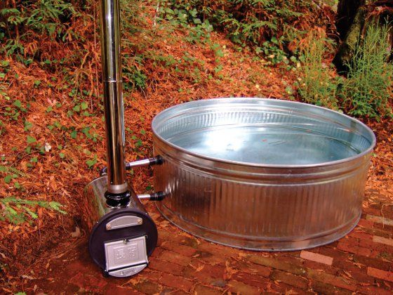 Chofu wood fired hot tub. Totally off the grid and costs a fraction of what an electric tub costs new.