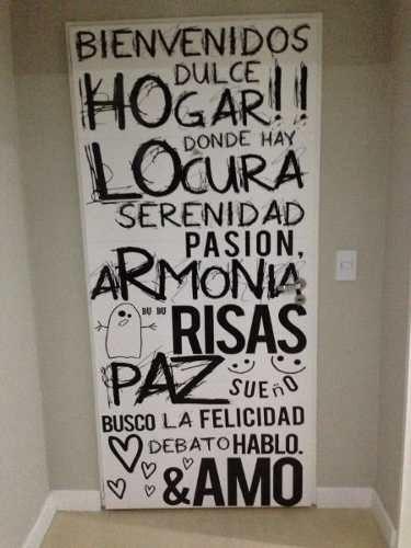 Vinilos decorativos para pared frases textos dise os - Vinilos con textos ...
