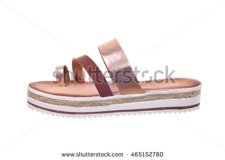 Woman sandal isolated on white background