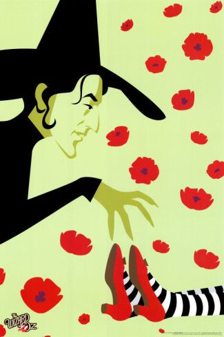 ᵜᵜThe Wizard Of Ozᵜᵜ: Wizardofoz, Picture-Black Posters, Red Shoes, Ruby Slippers, Dr. Oz, Art Prints, Movie, Wicked Witch, Wizards Of Oz