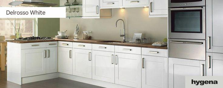 Hygena delrosso white kitchen b2l ideas pinterest for Kitchen ideas homebase