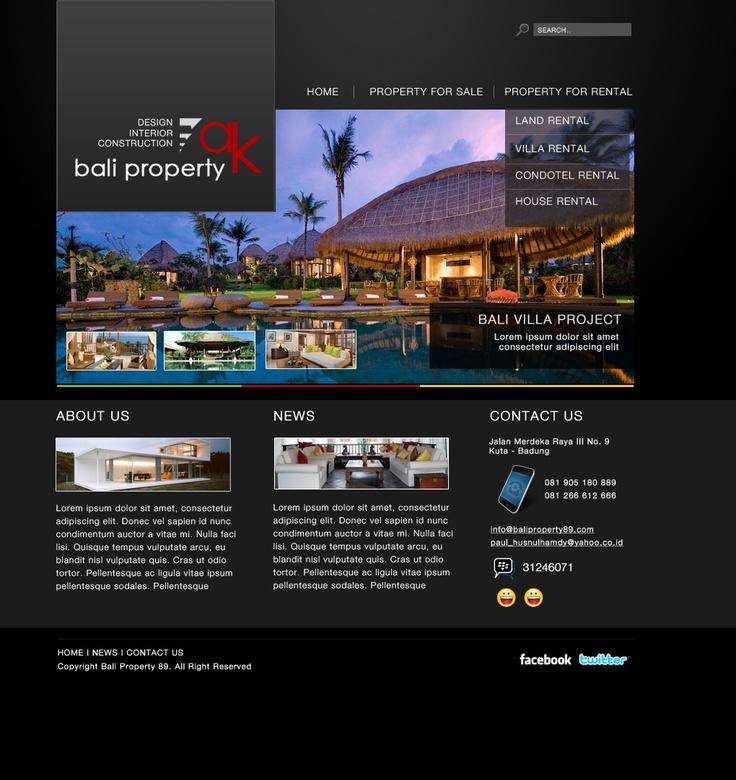 AK Bali Property  web design, web development, wordpress