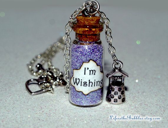Snow White Im Wishing Magical Necklace with a by LifeistheBubbles, $16.00