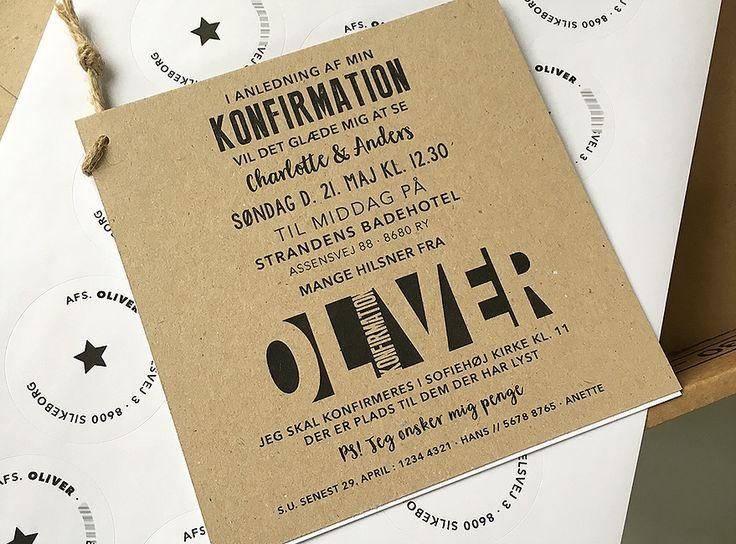 indbydelse / invitation konfirmation