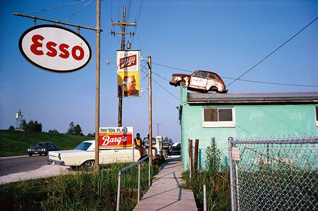 William Eggleston takes one photo to capture his composition.