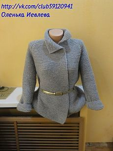Пальто спицами (реглан) как у Бородиной | Вязание крючком и спицами. Рукоделие. | VK