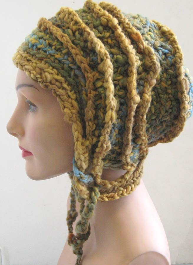 The Foster Hat- freeform crochet hat