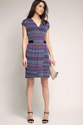Esprit - Mesh jurk met print en laagjeseffect kopen in de online shop