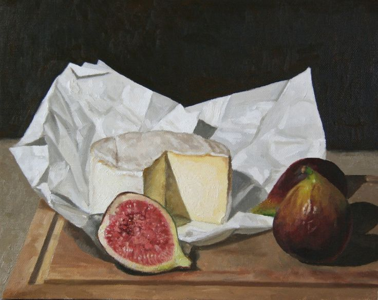'Figs & Brie' | Bruce Rowland  is a #CHG  #painter focused on the figurative - nude and semi nude, still life and interiors. Browse and buy #art: http://goo.gl/Uv6Nev #australianart