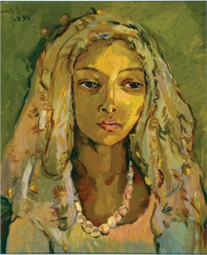 Irma Stern (South African: 1894 – 1966) | Portrait of a Young Malay Girl -1939