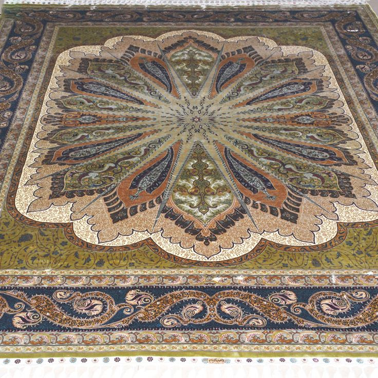 Mingxin 8×10 feet oriental handmade silk carpet, O…