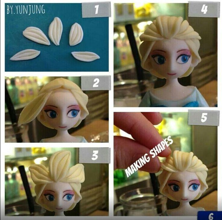 Elsa Fondant Figurine Tutorial #7