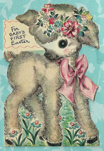 Vintage Baby Easter Card