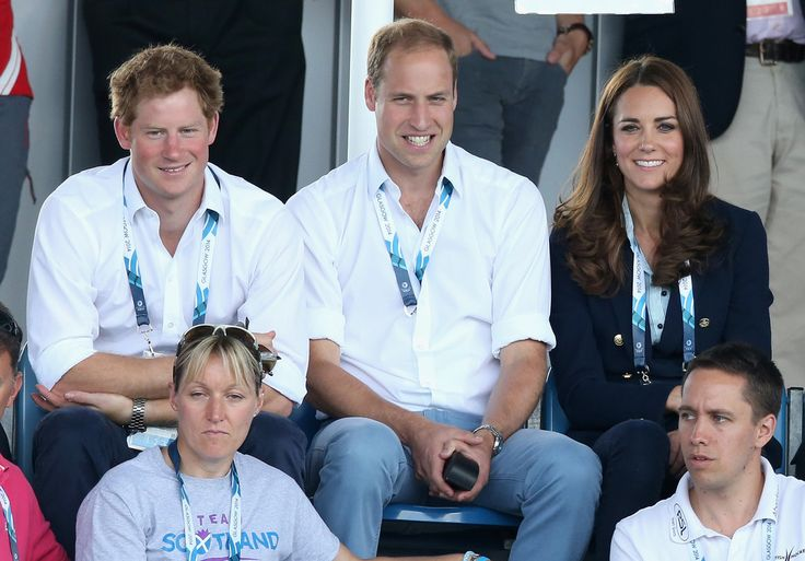July 28, 2014 - Commonwealth Games Day 5 - Women's Hockey, with Prince Harry & Prince William (Glasgow, Lanarkshire, Scotland)