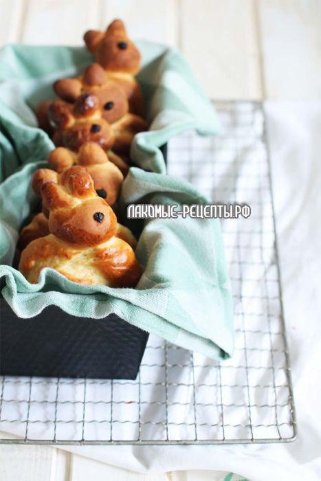 """Пасхальные булочки """"Кролики"""" на Пасху"""
