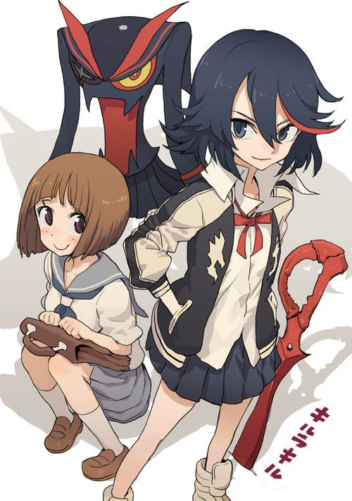 mankanshoku mako, matoi ryuuko, and senketsu (kill la kill) drawn by hasesese - Danbooru