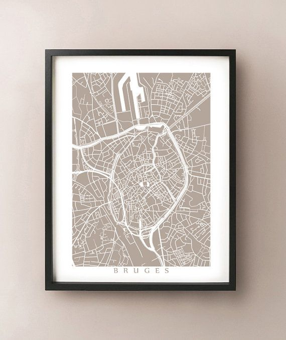 Bruges, Belgium map print by CartoCreative