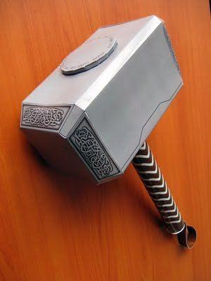 Behold the Geek! Thor Movie Mjolnir Hammer Papercraft