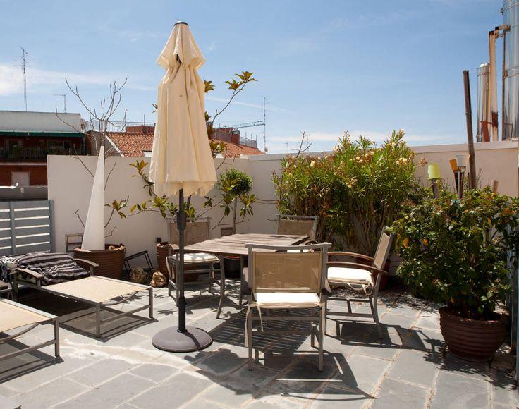 LOFT ATOCHA. Madrid : Varandas, marquises e terraços modernos por Beriot, Bernardini arquitectos