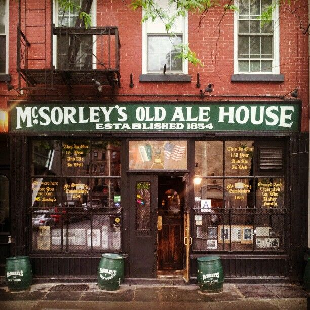 "McSorley's Old Ale House in New York, NY ~Reason: ""fucking duh""~ http://www.mcsorleysnewyork.com/home.html"