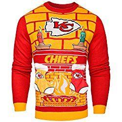 NFL Kansas City Chiefs Ugly 3D Sweater, X-Large