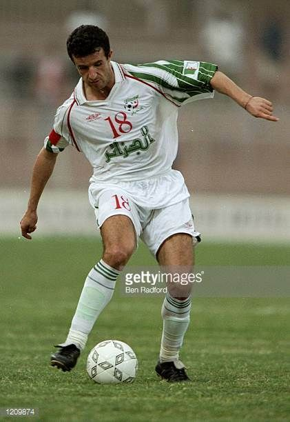 Moussa Saib of Algeria in action in the African Nations Cup game against Cameroon played in Accra Ghana The match ended 21 to Cameroon Mandatory...