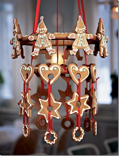Traditional Christmas Decorations - Ginger Bread Mobile #penguinkids #GingerbreadManLooseAtChristmas #sweepstakes