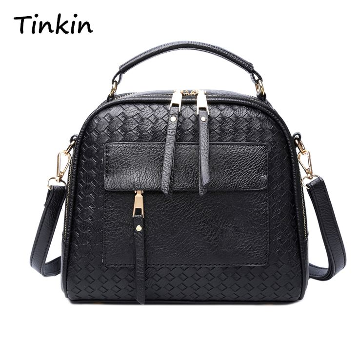 Tinkin New Arrival Knitting Women Handbag Fashion Weave Shoulder Bags Small Casual Female CrossBody Bag Retro Tote //Price: $23.00 & FREE Shipping //