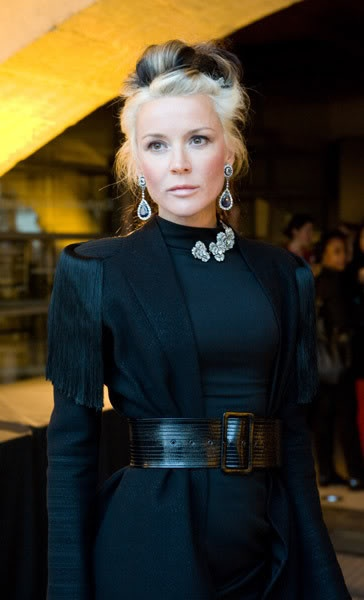 Daphne Guinness.  Her fashion sense is fierce, stunning and many times impractical, but always a joy to look at.  She reminds me of Narcissa Malfoy!!!