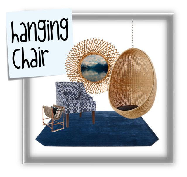 """hanging chair"" by artgazzm on Polyvore featuring interior, interiors, interior design, Zuhause, home decor, interior decorating, Post-It und &Tradition"