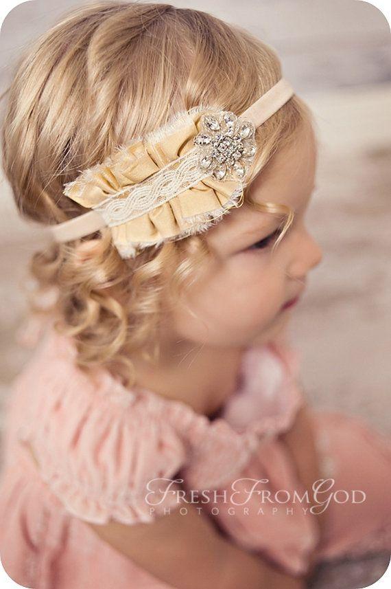 liga para cabello bebita