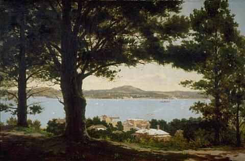 Edward Payton - Auckland Harbour from Mt Victoria, 1895 - Auckland Art Gallery