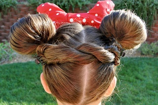 minnie mouse buns for our trip to Disney World
