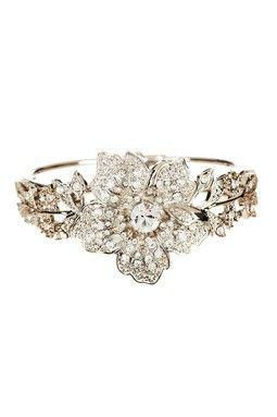 Crystal Flower Bracelet - Bridal Jewelry on sale! $42.50 http://www.hautelook.com/index/index/mk/invite/inv_code/JSquires054