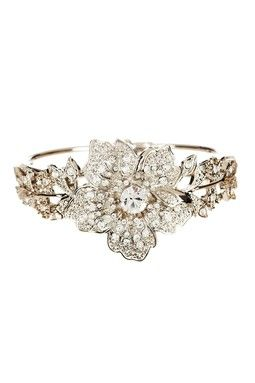 Crystal Flower Bracelet - Bridal Jewelry on sale! $42.50 http://www.hautelook.com/index/index/mk/invite/inv_code/JSquires054