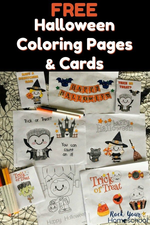 Free Halloween Coloring Pages Cards For Special Holiday