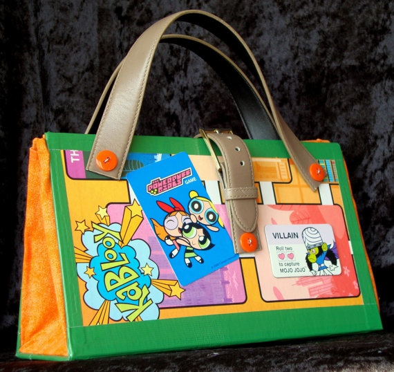 Powerpuff Girls Game Board Purse Kablooy!