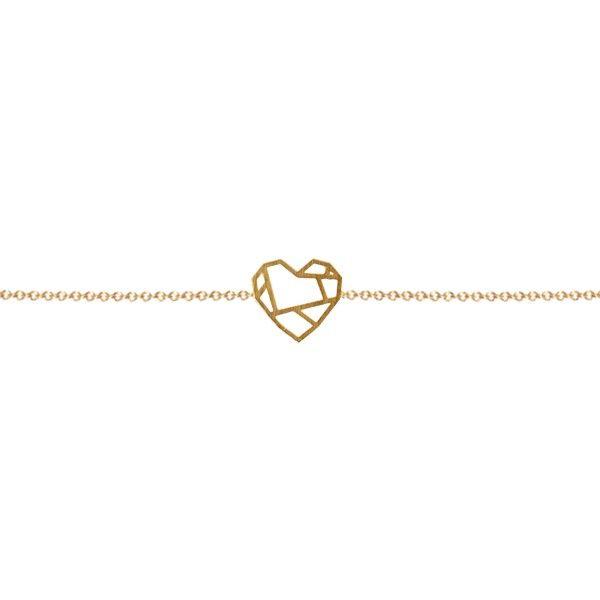 Bracelet Coeur or - Les Cleias