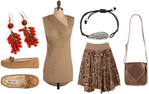 Tan outfit inspired by Walt Disney's Pocahontas