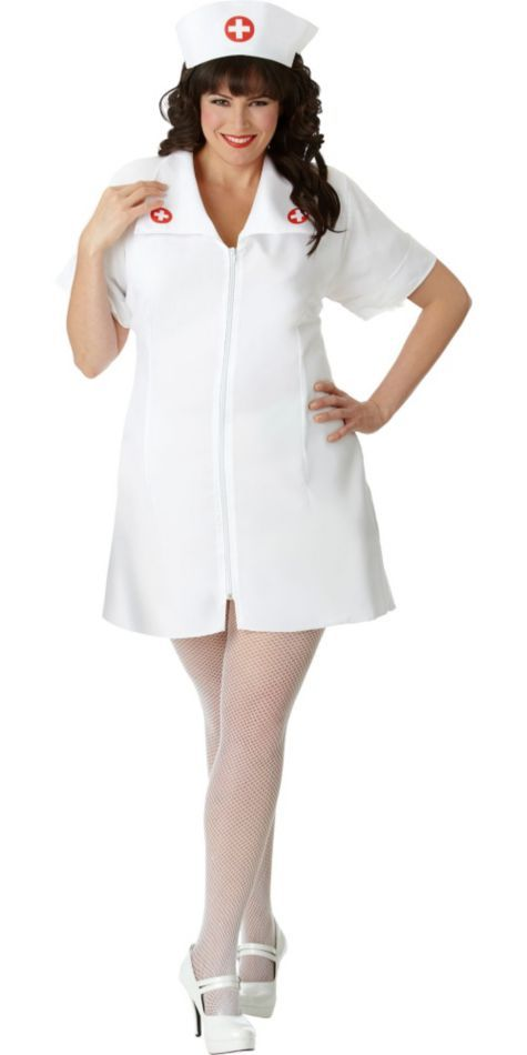 Adult Plus Size Hospital Honey Nurse Costume - Party City