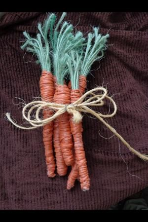 Baler Twine Carrots... Easy to make and so cute for spring by SAburns