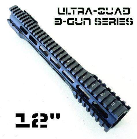 Quad Rail - Cobratac Ultra Quad 3-Gun Series   Free Float Hand Guard System - Cobra tactical Systems - 1